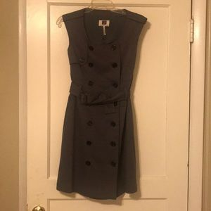 Laundry by Design mini button up dress with belt.